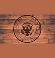 presidential seal brand vector image vector image