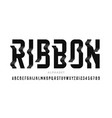 ribbon style modern font vector image vector image