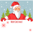 Santa Claus with Christmas greetings vector image vector image