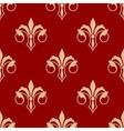 Seamless floral fleur de lis pattern vector image vector image