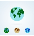 Set from Colorful Globe Icons vector image vector image