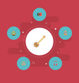 set of audio icons flat style symbols with vector image vector image