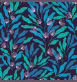simple botanical pattern vector image vector image