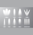spotlight set collection on transparent bakground vector image vector image