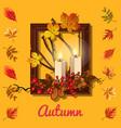 stylish poster on theme golden autumn vector image