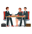 successful business negotiations over a round vector image vector image