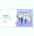 successful business project presentation company vector image