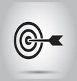 target aim flat icon darts game symbol logo vector image vector image