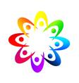 Teamwork holding hands logo vector image vector image