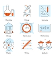 Various School Themed Graphic Icons vector image vector image