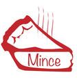 warm mince pie vector image vector image
