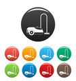 wash vacuum cleaner icons set color vector image vector image