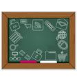 web blackboard frame vector image