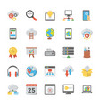 web design flat icons set vector image vector image