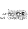 why australia for fine wines text word cloud vector image vector image