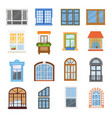 window modern house view glass frame arch vector image vector image