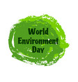 world environment day background world vector image vector image