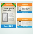Colored banners selling phones vector image