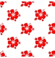 Seamless pattern with red flower vector image