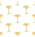 Seamless pattern with tropic palm vector image