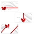 A set of three gift cards with elegant silk vector image vector image