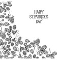 abstract natural st patricks day template vector image vector image