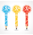 Abstract triangle pencil bulb vector image