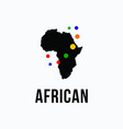 africa silhouette logo vector image