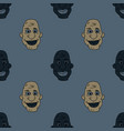 african man funny face seamless pattern vector image vector image