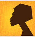 african woman face vector image