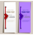 banners with ribbons set vector image vector image