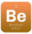 Beryllium chemical element vector image
