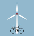 bicycle with wind turbine vector image vector image