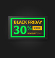 black friday 30 percent discount coupon vector image