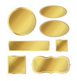 blank metallic icon set gold color on white vector image vector image