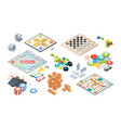 board games adults funny games isometric cards vector image vector image