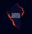 burining ragged edge shining design fire vector image