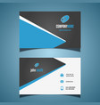 business card with a modern design vector image vector image
