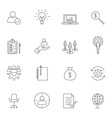 Business icon set outline vector image vector image
