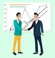 business report rising graph business deal vector image