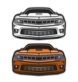 Cars muscle comic set vector image vector image