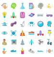 chemistry icons set cartoon style vector image