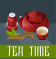 chinese tea ceremony concept vector image vector image