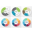 circle arrows infographic diagram options vector image vector image