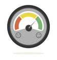 color speedometer vector image