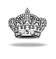 crown black and white king queen 88 vector image vector image