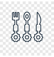 cutlery concept linear icon isolated on vector image
