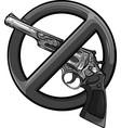 design symbol no gun on white background vector image