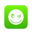 eyewink emoticon digital green vector image