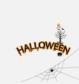 halloween calligraphy abstract vector image